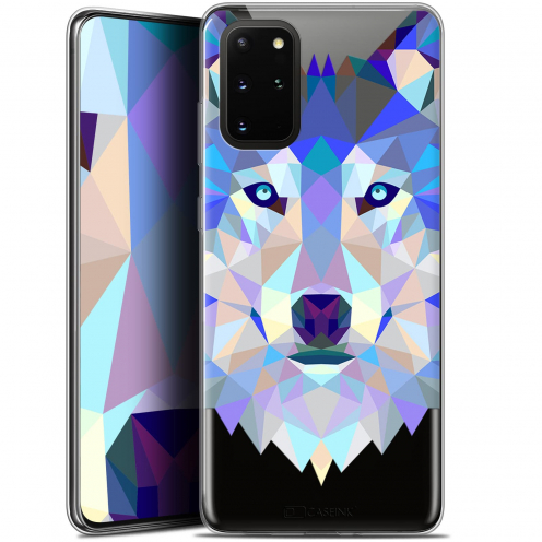"Coque Gel Samsung S20+ (6.7"") Extra Fine Polygon Animals - Loup"