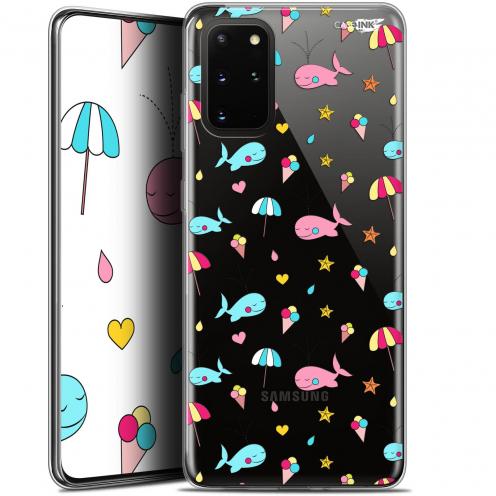 """Coque Gel Samsung S20+ (6.7"""") Extra Fine Motif - Baleine à la Plage"""