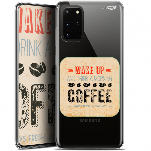 "Coque Gel Samsung S20+ (6.7"") Extra Fine Motif - Wake Up With Coffee"