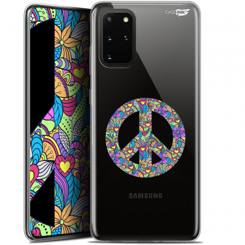 "Coque Gel Samsung S20+ (6.7"") Extra Fine Motif - Peace And Love"