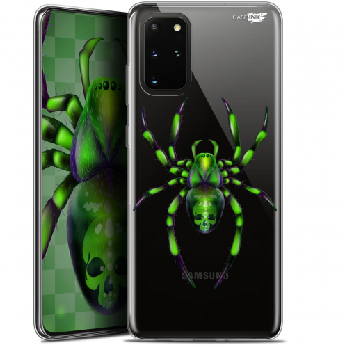 "Coque Gel Samsung S20+ (6.7"") Extra Fine Motif - Arraignée Verte"