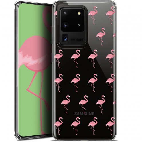 """Coque Gel Samsung Galaxy S20 Ultra (6.9"""") Extra Fine Pattern - Les flamants Roses"""