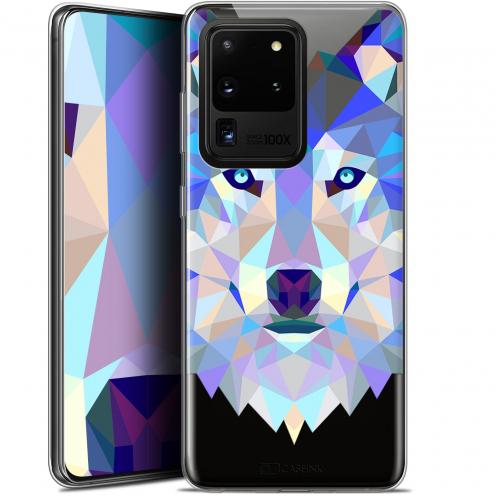 "Coque Gel Samsung Galaxy S20 Ultra (6.9"") Extra Fine Polygon Animals - Loup"