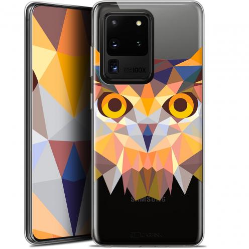 "Coque Gel Samsung Galaxy S20 Ultra (6.9"") Extra Fine Polygon Animals - Hibou"