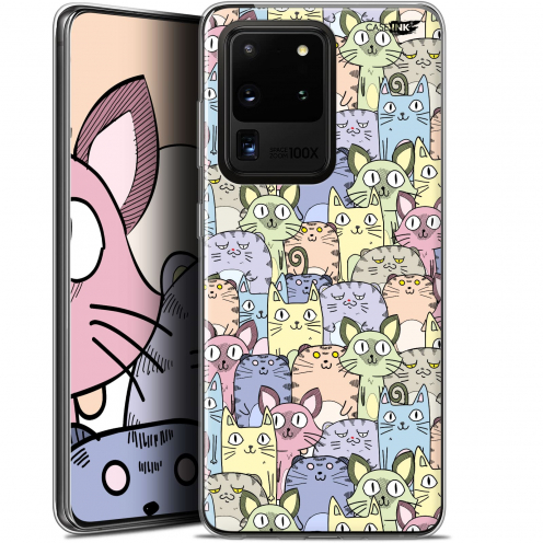 "Coque Gel Samsung Galaxy S20 Ultra (6.9"") Extra Fine Motif - Foule de Chats"