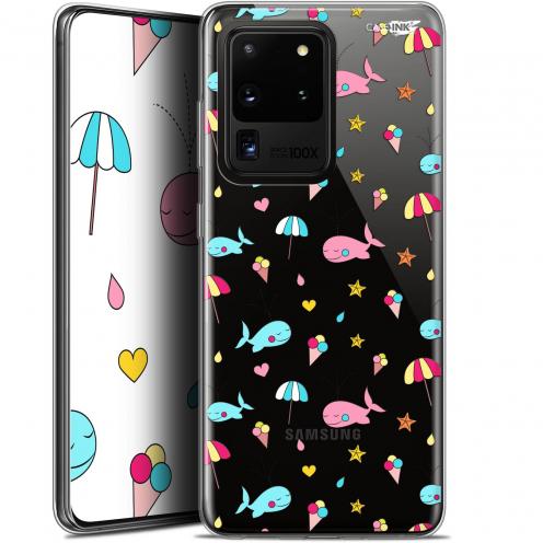 """Coque Gel Samsung Galaxy S20 Ultra (6.9"""") Extra Fine Motif - Baleine à la Plage"""