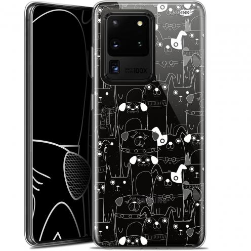 "Coque Gel Samsung Galaxy S20 Ultra (6.9"") Extra Fine Motif - Chien Blanc"