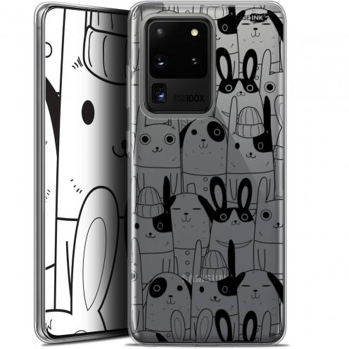 "Coque Gel Samsung Galaxy S20 Ultra (6.9"") Extra Fine Motif - Lapin Noir"