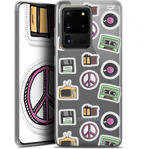 "Coque Gel Samsung Galaxy S20 Ultra (6.9"") Extra Fine Motif - Vintage Stickers"