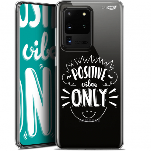 """Coque Gel Samsung Galaxy S20 Ultra (6.9"""") Extra Fine Motif - Positive Vibes Only"""
