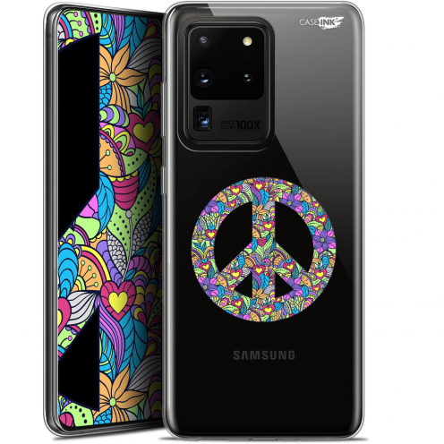 """Coque Gel Samsung Galaxy S20 Ultra (6.9"""") Extra Fine Motif - Peace And Love"""