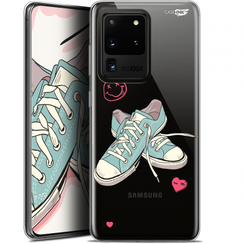 """Coque Gel Samsung Galaxy S20 Ultra (6.9"""") Extra Fine Motif - Mes Sneakers d'Amour"""