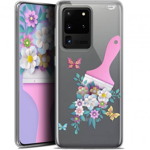 "Coque Gel Samsung Galaxy S20 Ultra (6.9"") Extra Fine Motif - Pinceau à Fleurs"