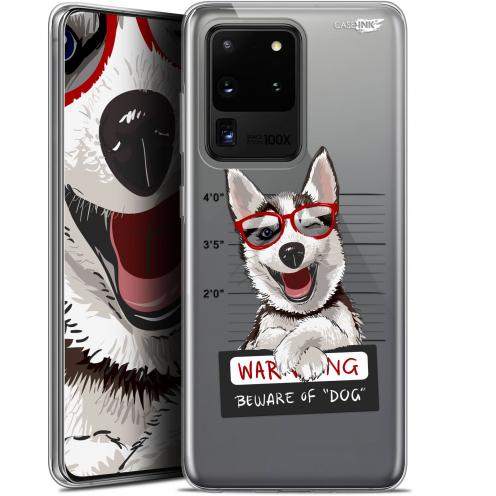 "Coque Gel Samsung Galaxy S20 Ultra (6.9"") Extra Fine Motif - Beware The Husky Dog"