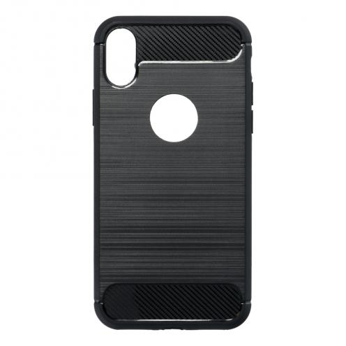 Forcell CARBON Coque pour iPhone X Noir