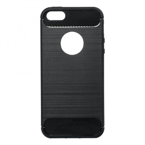 Forcell CARBON Coque pour iPhone 5/5S/SE Noir