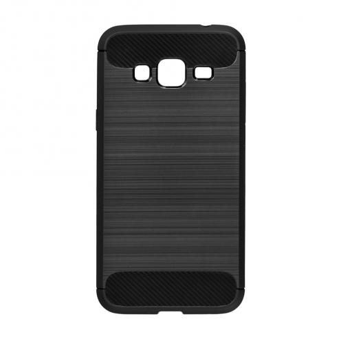 Forcell CARBON Coque pour Samsung Galaxy J3 2016 Noir