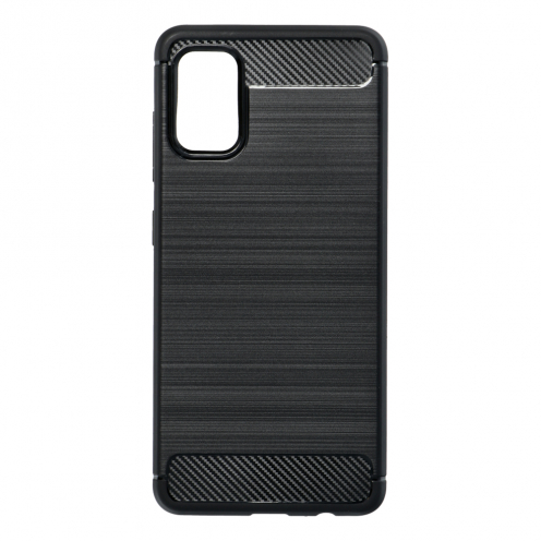 Forcell CARBON Coque pour Samsung Galaxy A41 Noir