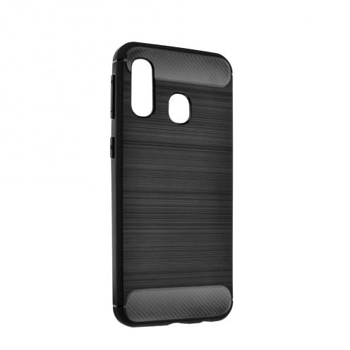 Forcell CARBON Coque pour Samsung Galaxy A70E Noir