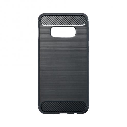 Forcell CARBON Coque pour Samsung Galaxy S10e Noir