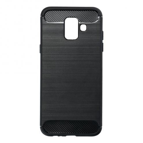 Forcell CARBON Coque pour Samsung Galaxy A6 ( A6 2018 ) Noir