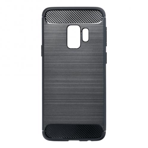 Forcell CARBON Coque pour Samsung Galaxy S9 Noir