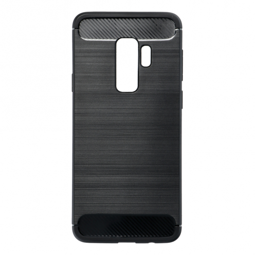 Forcell CARBON Coque pour Samsung Galaxy S9 PLUS Noir