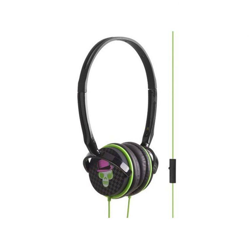 Vue complémentaire de Coffret casque audio avec bumper à dos amovible Blueway® So Rock Skull edition