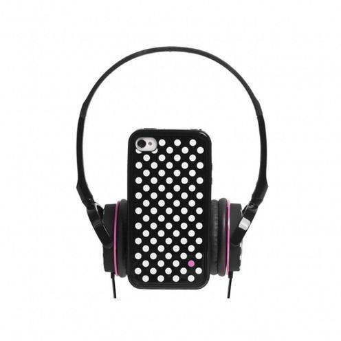 Visuel unique de Coffret casque audio avec bumper à dos amovible Blueway® So Dots Black edition