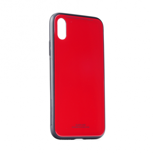 """GLASS Coque pour iPhone XS ( 5,8"""" ) Rouge"""