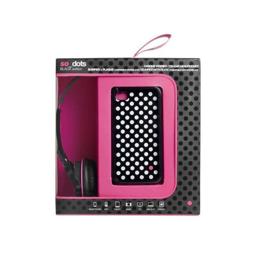 Visuel supplémentaire de Coffret casque audio avec bumper à dos amovible Blueway® So Dots Black edition