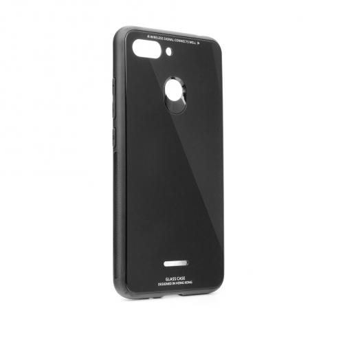 GLASS Coque pour Xiaomi Redmi 7 Noir