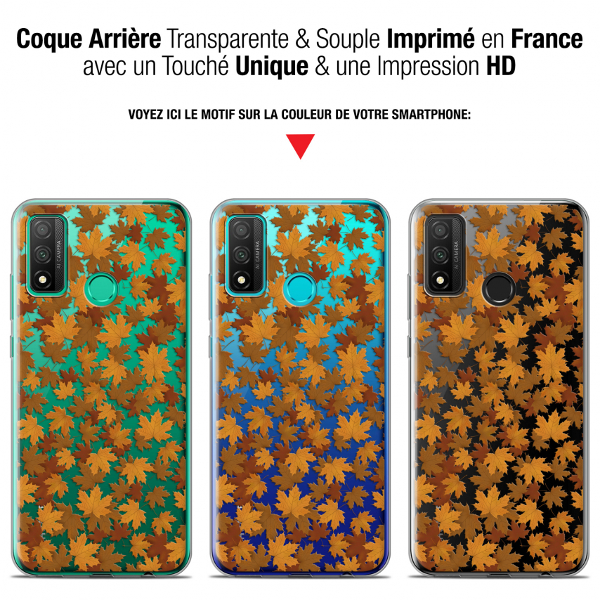 "Coque Gel Huawei P Smart 2020 (6.2"") Extra Fine Autumn 16 - Feuilles"