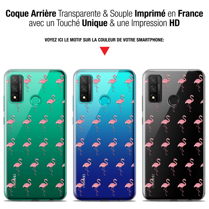 "Coque Gel Huawei P Smart 2020 (6.2"") Extra Fine Pattern - Les flamants Roses"