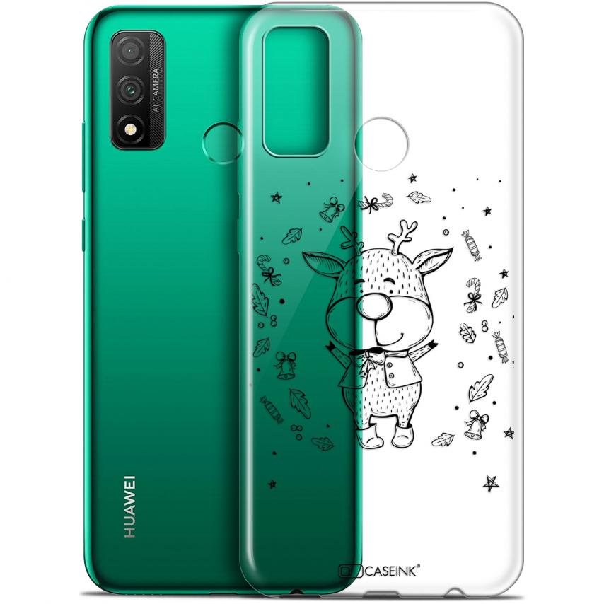 "Coque Gel Huawei P Smart 2020 (6.2"") Extra Fine Noël - Sketchy Cerf"