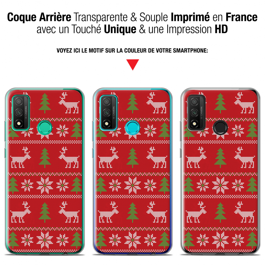 """Coque Gel Huawei P Smart 2020 (6.2"""") Extra Fine Noël - Couture Rouge"""