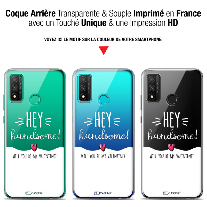 "Coque Gel Huawei P Smart 2020 (6.2"") Extra Fine Love - Hey Handsome !"