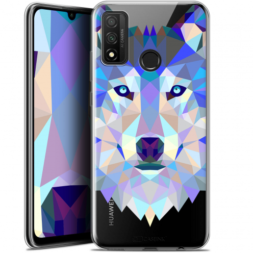 """Coque Gel Huawei P Smart 2020 (6.2"""") Extra Fine Polygon Animals - Loup"""