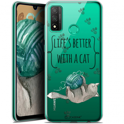 """Coque Gel Huawei P Smart 2020 (6.2"""") Extra Fine Quote - Life's Better With a Cat"""