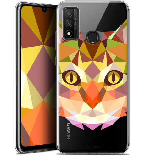 """Coque Gel Huawei P Smart 2020 (6.2"""") Extra Fine Polygon Animals - Chat"""