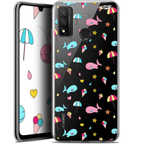 "Coque Gel Huawei P Smart 2020 (6.2"") Extra Fine Motif - Baleine à la Plage"