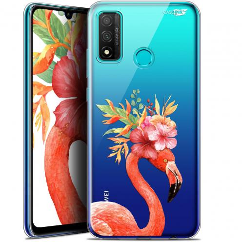 "Coque Gel Huawei P Smart 2020 (6.2"") Extra Fine Motif - Flamant Rose Fleuri"