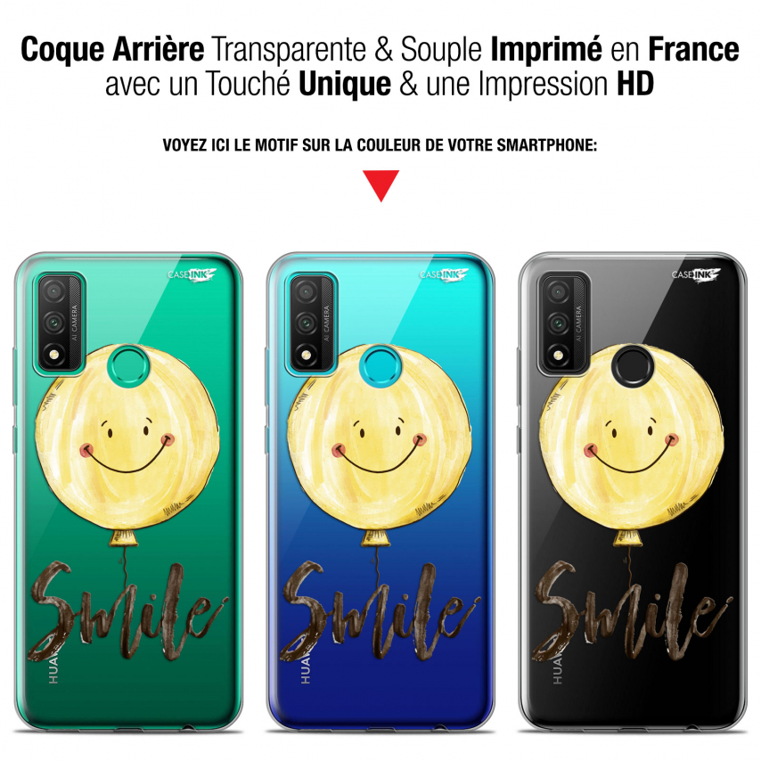 "Coque Gel Huawei P Smart 2020 (6.2"") Extra Fine Motif - Smile Baloon"