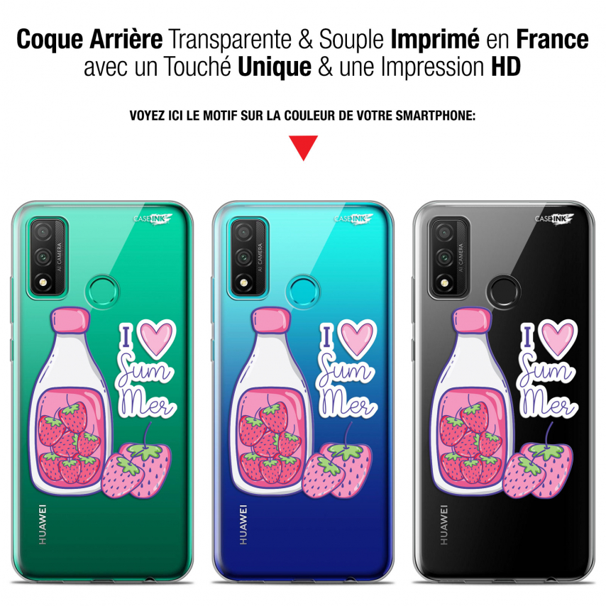 "Coque Gel Huawei P Smart 2020 (6.2"") Extra Fine Motif - Milky Summer"