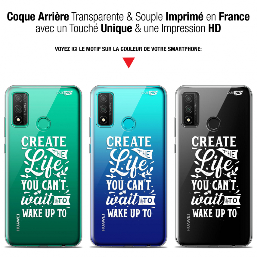 """Coque Gel Huawei P Smart 2020 (6.2"""") Extra Fine Motif - Wake Up Your Life"""