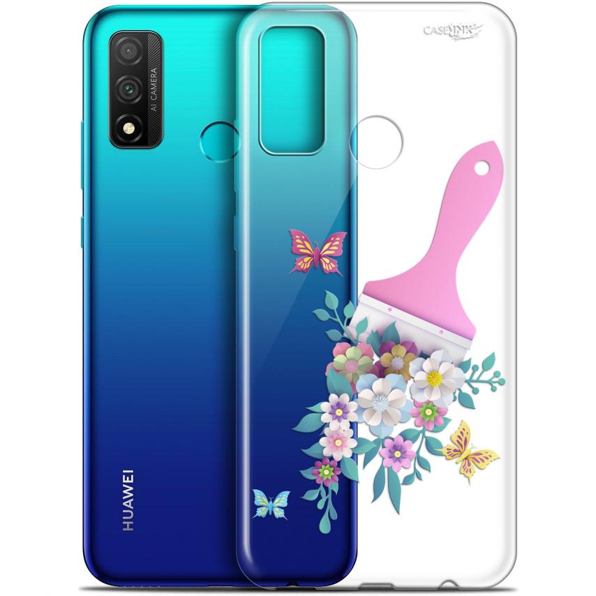 "Coque Gel Huawei P Smart 2020 (6.2"") Extra Fine Motif - Pinceau à Fleurs"