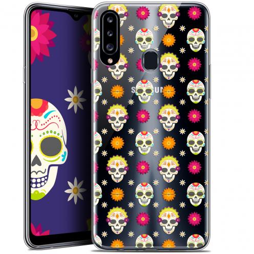 "Coque Gel Samsung Galaxy A20s (6.5"") Extra Fine Halloween - Skull Halloween"