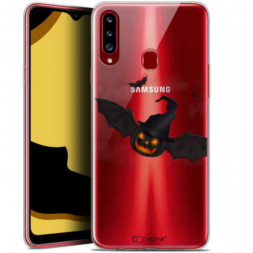 "Coque Gel Samsung Galaxy A20s (6.5"") Extra Fine Halloween - Chauve Citrouille"