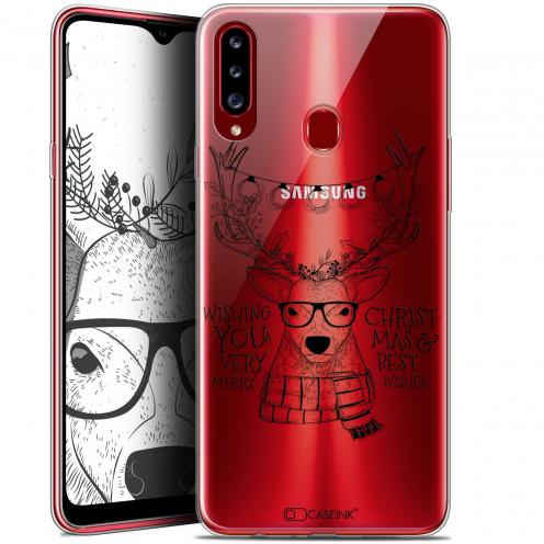 """Coque Gel Samsung Galaxy A20s (6.5"""") Extra Fine Noël - Cerf Hipster"""