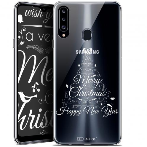 """Coque Gel Samsung Galaxy A20s (6.5"""") Extra Fine Noël - Calligraphie"""